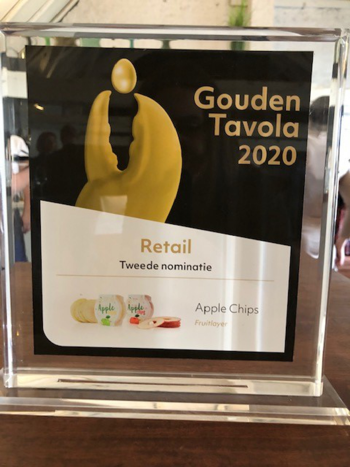 3th place for Fruit layer apple chips at Golden Tavola